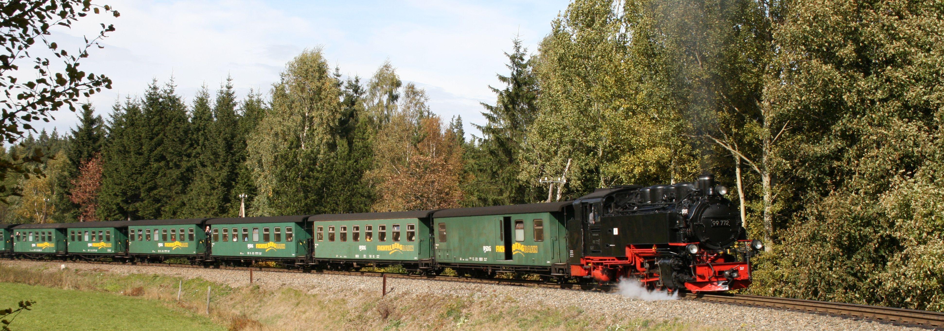 Fichtelbergbahn bei Kretscham Rothensehma